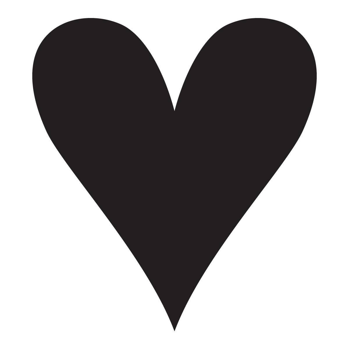 Pointy Heart Quartermarking Stencil For Horses