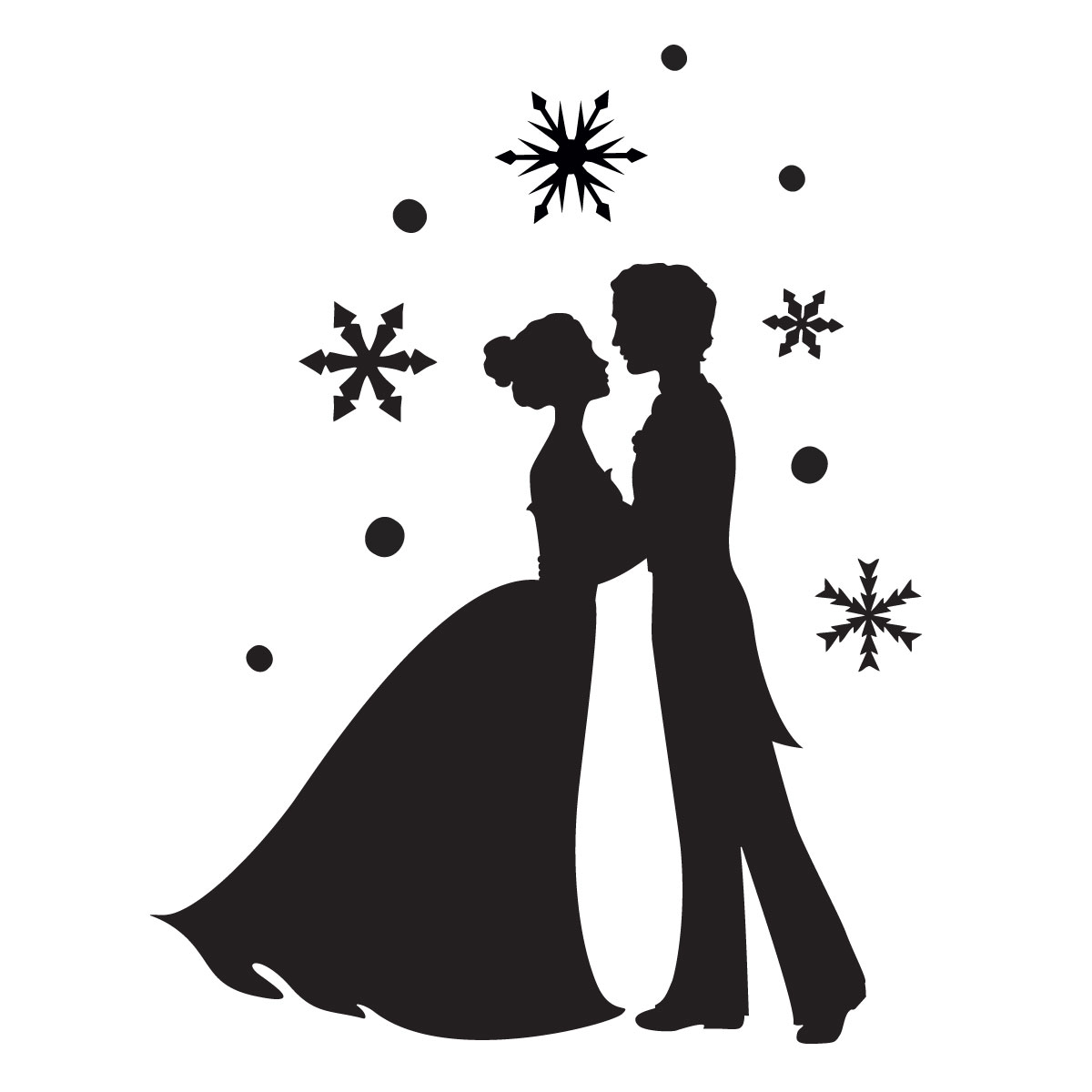 Ice Prince And Princess Stencil For Glitter Tattoos For Horses
