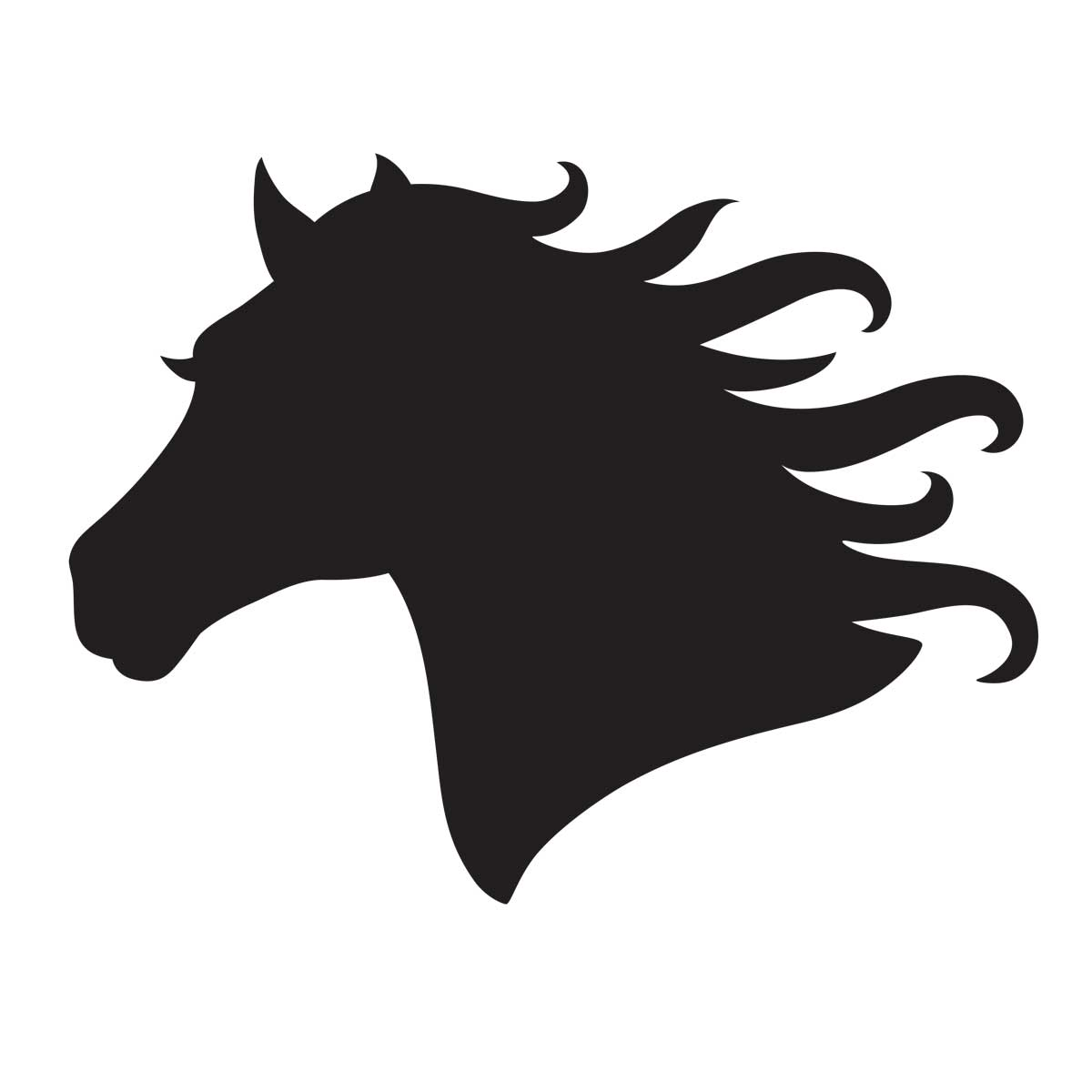 Horse Head Stencil For Glitter Tattoos For Horses