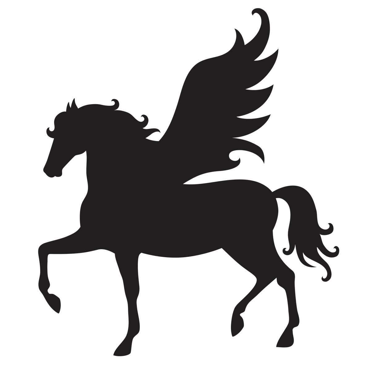 Pegasus Stencil For Glitter Tattoos Horses