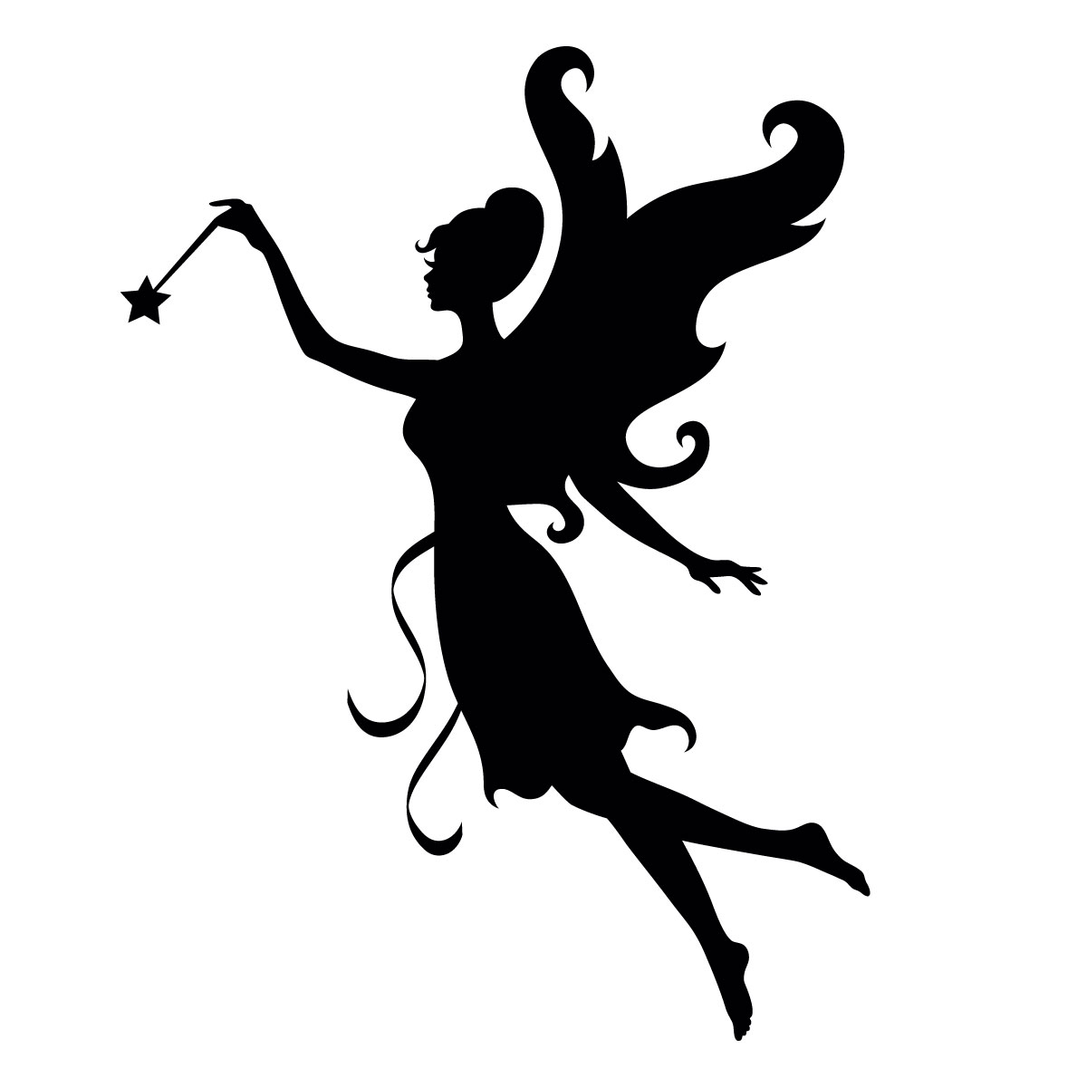 Fairy With Wand Stencil For Glitter Tattoos For Horses