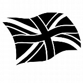 Union Jack Flag Quarter Mark Stencil (simple)