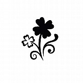 Small Four Leaf Clover Stencil