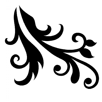 Neck Scroll Pair Stencils
