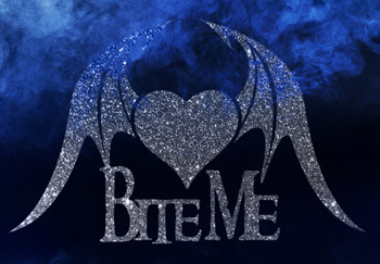 Bite Me Halloween and Twilight Glitter Quartermarker Stencil