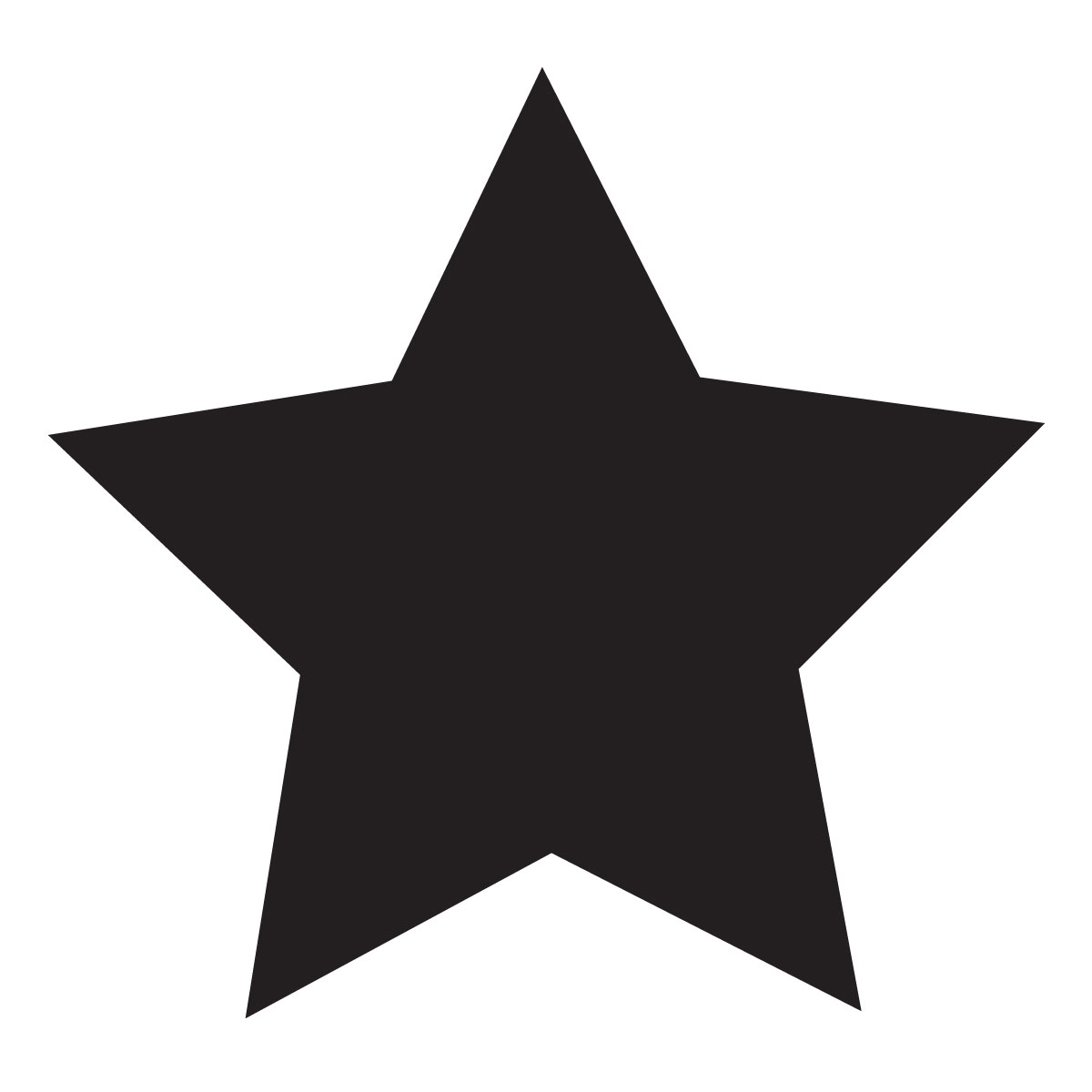 Small Star Stencil For Glitter Tattoos For Horses
