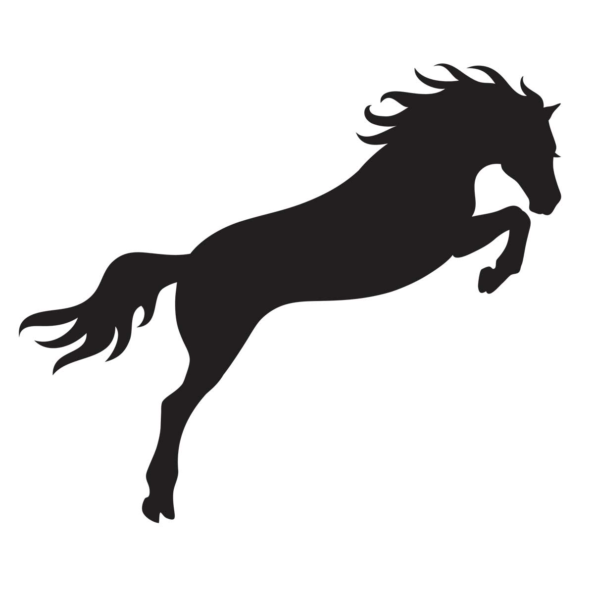 Jumping Horse Stencil For Glitter Tattoos For Horses