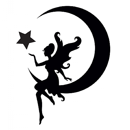Fairy and Moon Quarter Mark Stencil